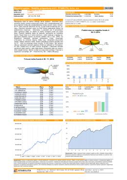 Mesačná správa - Stabilita príspevkový d.d.f., STABILITA, d.d.s., a.s.