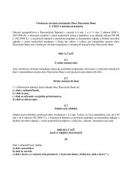 Všeobecne záväzné nariadenie Obce Štiavnické Bane č. 1/2012 o