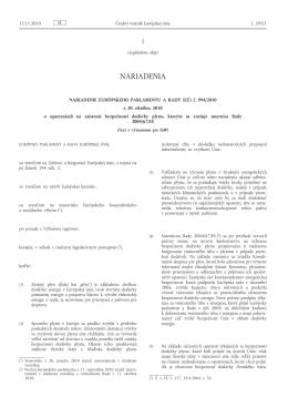 Nariadenie Európskeho parlamentu a Rady (EÚ) č. 994/2010 z 20