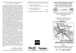 Pozvánka Bienále - Slovenská spoločnosť pre ORL a chirurgiu hlavy