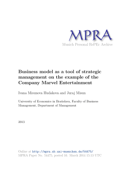 Business model as a tool of strategic management on the example