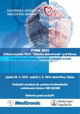 Stiahnite si program v .pdf… - Slovenská asociácia srdcových arytmií