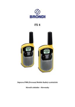 Súprava PMR (Personal Mobile Radio) vysielačiek Návod k obsluhe