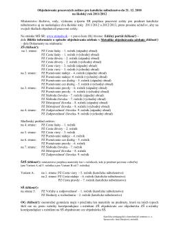 Objednávanie pracovných zošitov pre katolícke náboženstvo do 21
