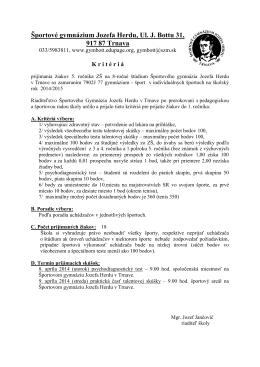 Športové gymnázium Ul - Športové gymnázium Jozefa Herdu Trnava