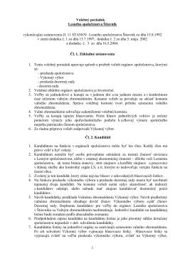 1 Volebný poriadok Lesného spoločenstva Štiavnik vykonávajúci