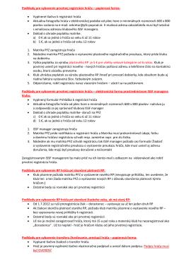 Podklady pre vybavenie prvotnej registrácie hráča – papierová