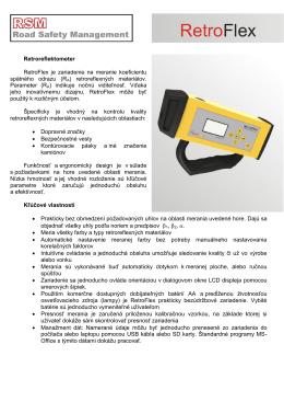 Retroreflektometer RetroFlex je zariadenie na meranie koeficientu