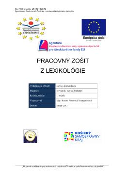 PZ_z Lexikológie_SJL 2,3,5.pdf - moderná škola tretieho tisícročia