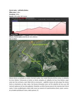 Horné Ladce – výhľadňa Butkov Dĺžka trate: 5,4km Prevýšnie: 370m