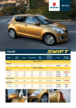 Informácie o Výbave limitovanej edície SWIFT VIOLET nájdete tu