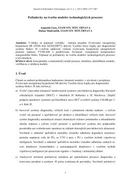 Gese Augustín, Mudrončík Dušan - Požiadavky na tvorbu modelov