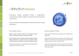 Rozpis funkcií systému AlejTech Intranet si môžete stiahnuť aj ako
