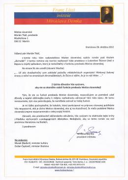 OL predsedovi Matice slovenskej - Franz Liszt institut Miroslava
