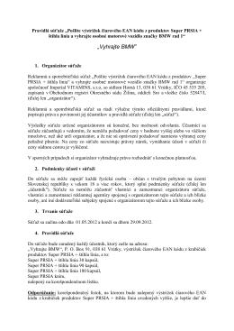 Detaily súťaže - Super PRSIA + štíhla línia – Imperial VITAMINS
