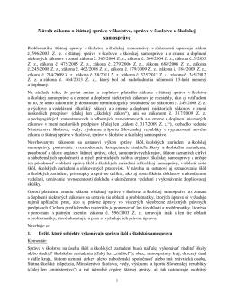 Návrh zákona o štátnej správe v školstve, správe v školstve a