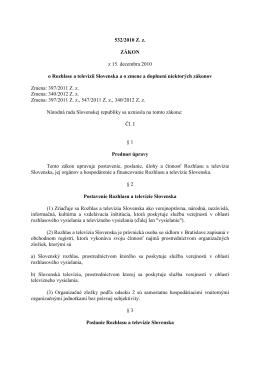 zákon č. 532/2010 Z. z.