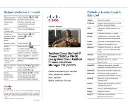Stručný prehľad telefónu Cisco Unified IP Phone 7960G a 7940G