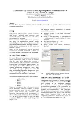 Automatizovaný merací systém a jeho aplikácia v skúšobníctve VN