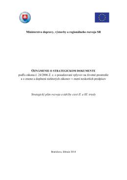 Ministerstvo dopravy, výstavby a regionálneho rozvoja SR podľa