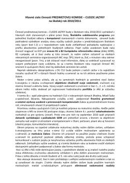 Hlavné ciele činnosti predmetovej komisie.doc