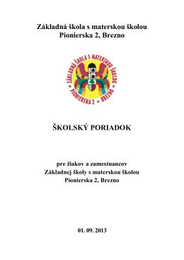 Základná škola s materskou školou Pionierska 2, Brezno ŠKOLSKÝ