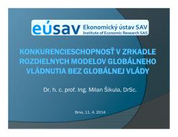 Dr. h. c. prof. Ing. Milan Šikula, DrSc.