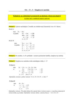 Jednofázový a dvojfázový simplexový algoritmus.