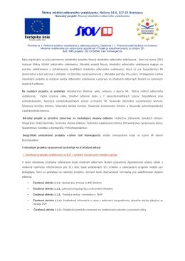Štátny inštitút odborného vzdelávania, Bellova 54/A, 837 63 Bratislava