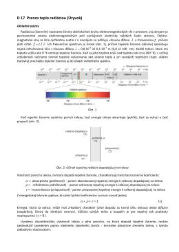 D17.Prenos tepla radiáciou Základné pojmy. Konfiguračné faktory