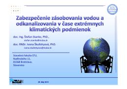 doc. Ing. Štefan Stanko, PhD., doc. RNDr. Ivona Škultétyová, PhD.
