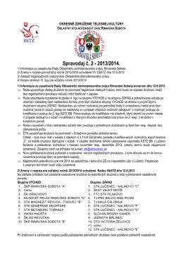 Výkonný výbor okresného stolnotenisového zväzu v Rimavskej Sobote