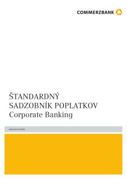 Štandardný sadzobník poplatkov Corporate Banking [pdf, 59 KB]