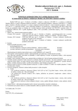 Stredné odborné učilište odevné, Bardejovská 715/18, 089 01 Svidník