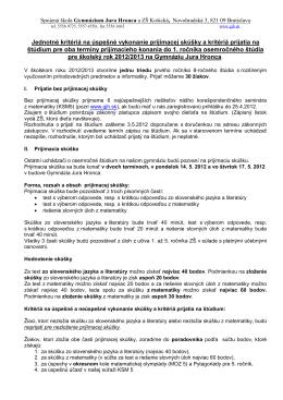 611009 Spojená škola- gymn. J. Hronca, Novohradská 3, Bratislava