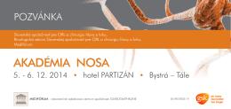 AKADÉMIA NOSA - Slovenská spoločnosť pre ORL a chirurgiu hlavy
