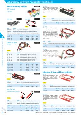 Káble a šnúry / Kabely a šňůry Laboratórny sortiment / Laboratorní