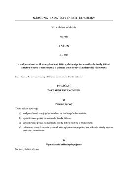 17b Návrh poslancov na vydanie zákona o zodpovednosti za škodu
