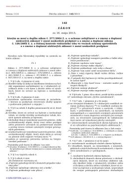Zákon č. 377/2004 Z. z. o ochrane nefajčiarov v znení neskorších