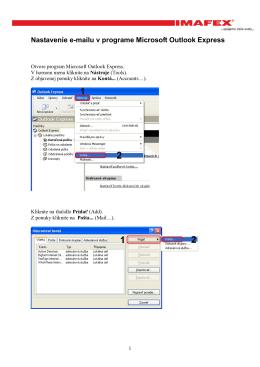 Nastavenie e-mailu v programe Microsoft Outlook Express.pdf