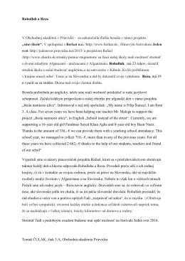 v článku Tomáša Čuláka z III. A - Obchodná akadémia, F. Madvu 2