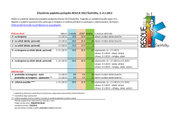 Účastnícke poplatky podujatia RESCUE 2013 Šachtičky, 2.