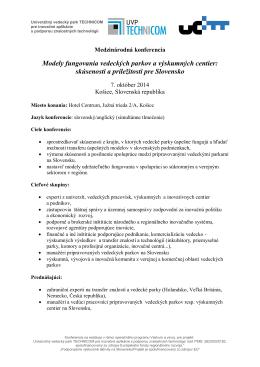 informačný bulletin - Výskumné centrum Žilinskej univerzity v Žiline