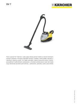 Parný vysávač SV 7 Kärcher v sebe spája výhody parných čističov