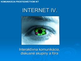 INTERNET I.
