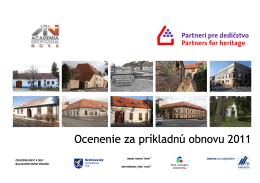 Ocenenie za príkladnú obnovu 2011 - katalóg v pdf.