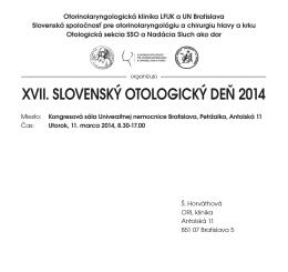 Otologicky den 2014_Sestava 1 - Slovenská spoločnosť pre ORL a