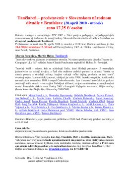 Pozvánka a program (PDF súbor) - Katedra zoológie a antropológie
