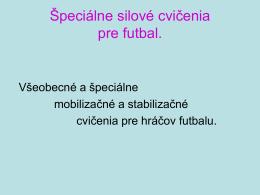 Všeobecné a špeciálne mobilizačné a stabilizačné cvičenia pre
