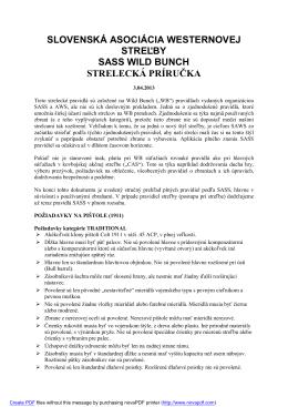 slovenská asociácia westernovej streľby sass wild bunch strelecká